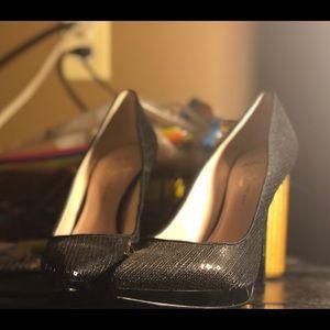 Nine West Black Sequin heel